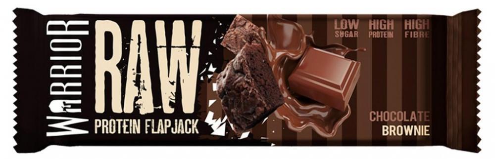 Warrior Supplements Raw High Protein Flapjack Bar (Chocolate Brownie) 75 g