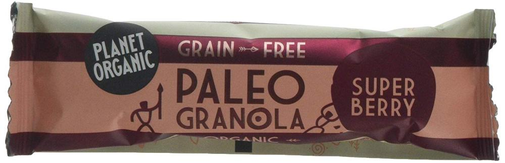 Planet Organic Paleo Granola Bar Super Berry 30g