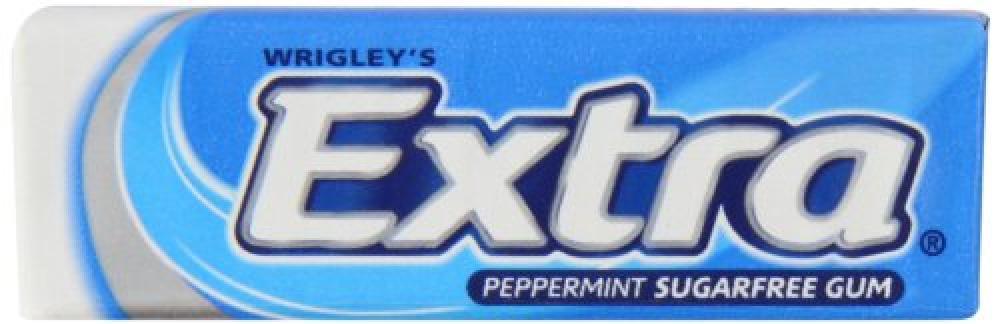 Wrigleys Extra Peppermint Sugarfree Chewing Gum 14g