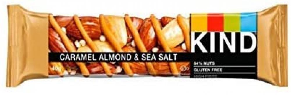 Kind Healthy Gluten Free and Low Calorie Snack Bars Caramel Almond and Sea Salt 40 g