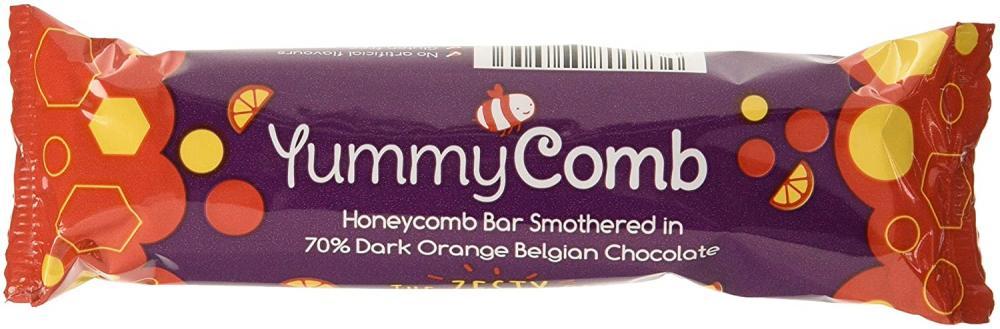 YummyComb 70 Percent Dark Orange Chocolate Bar 35g