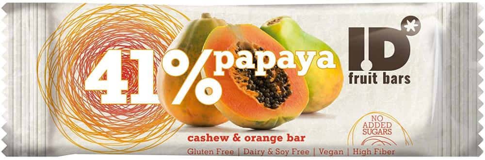 ID Papaya and Orange Bar with Walnuts 35g