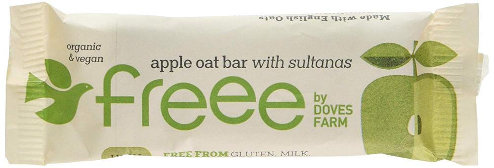 Doves Farm Freee Apple Oatbar With Sultanas 35g