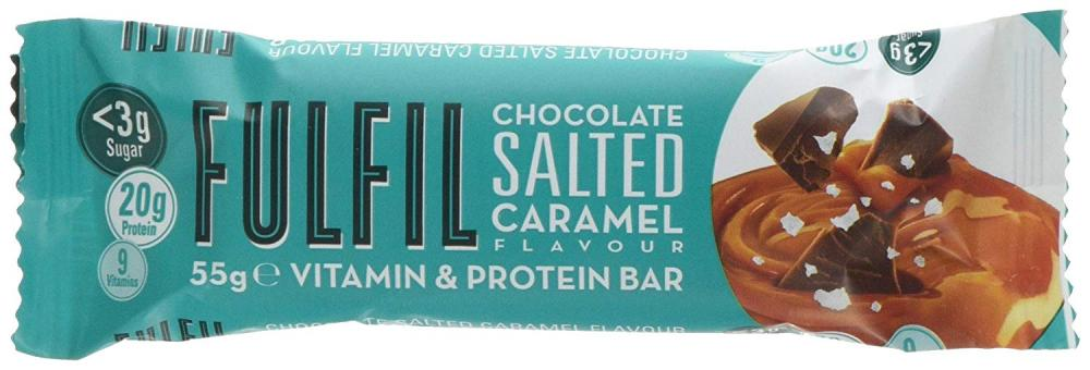 SALE  Fulfil Chocolate Salted Caramel Vitamin and Protein Bar 55g