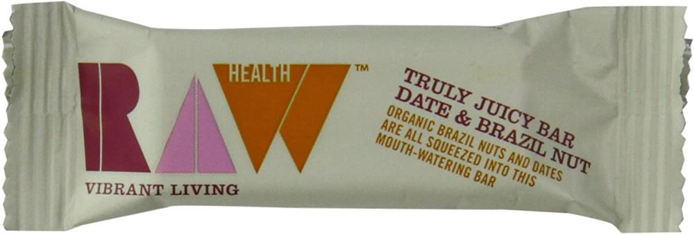 Raw Health Truly Juicy Date and Brazil Nut Bar 46g