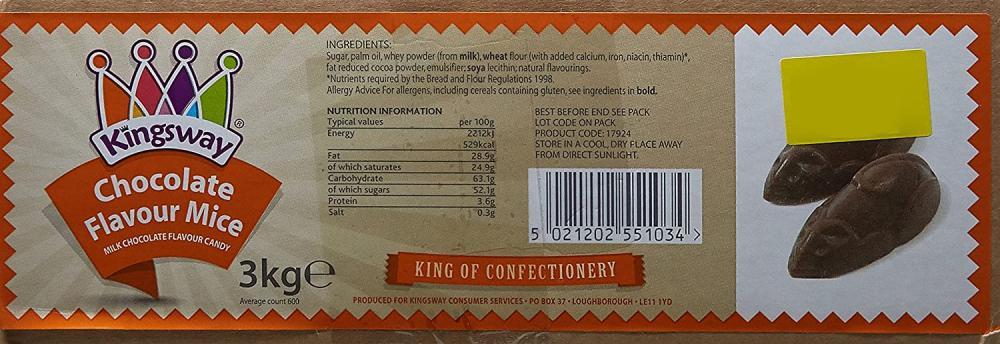 Kingsway Chocolate Flavour Mice 3kg