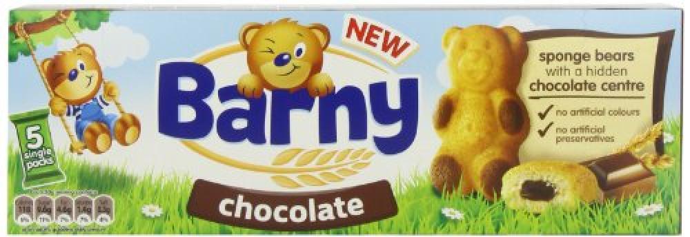 Kraft Barny Chocolate Kids Sponge Bear 5-Pack 150 g