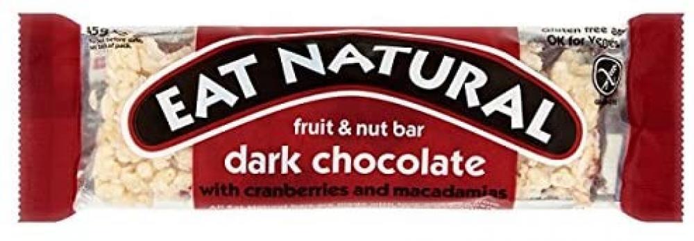 Eat Natural Fruit and Nut Bar Dark Chocolate Cranberries and Macadamias 45g