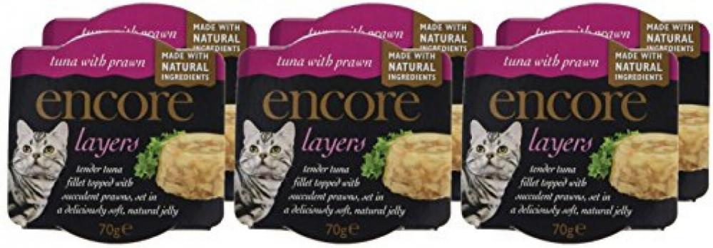 CASE PRICE  Encore Layers Tuna with Prawn Cat Food 70g x 6