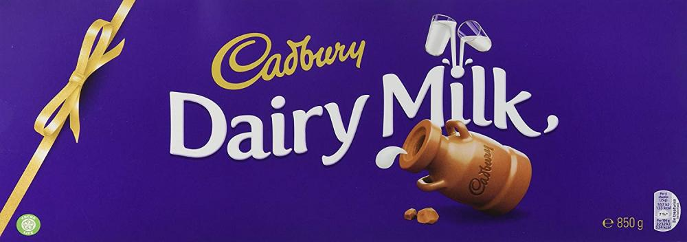 Cadbury Dairy Milk Classic Chocolate Bar 850g Damaged Box