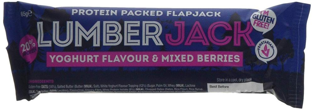 Lumber Jack Yoghurt and Mixed Berries Protein Flapjack 65g