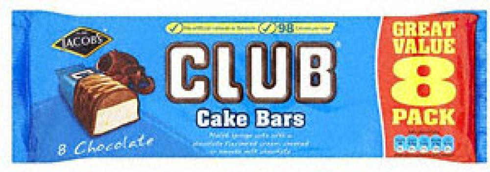 Jacobs Club Chocolate Cake Bars 8 Pack Approved Food
