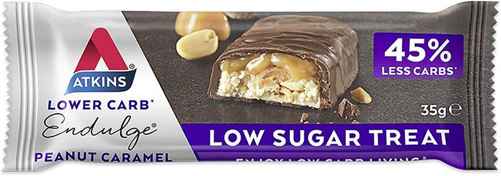 Atkins Endulge Peanut Caramel Low Carb and Sugar Snack Bar 35 g