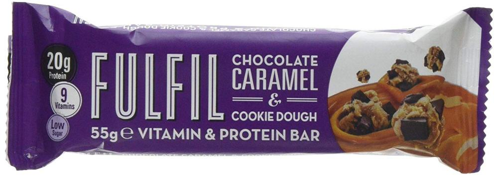 Fulfil Chocolate and Caramel Cookie Dough Protein Bar 55 g