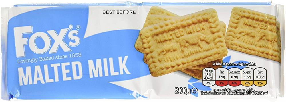 Foxs Malted Milk Biscuits 200g
