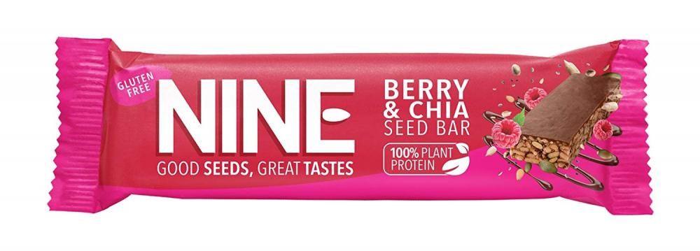 NINE Berry and Chia Seed Bar 40 g
