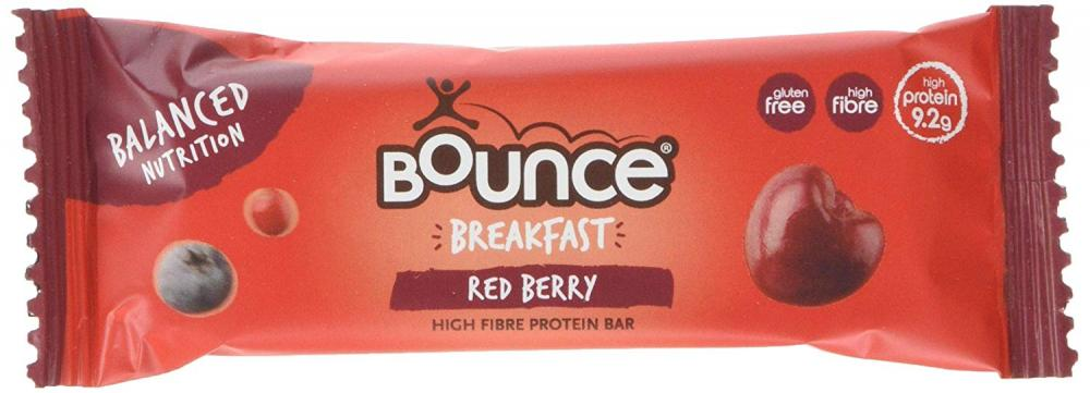Bounce Breakfast Red Berry High Fibre Protein Bar 45g