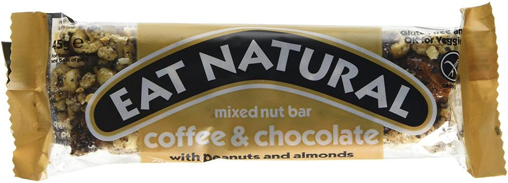 Eat Natural Coffee Chocolate Bar with Peanuts and Almonds 45g