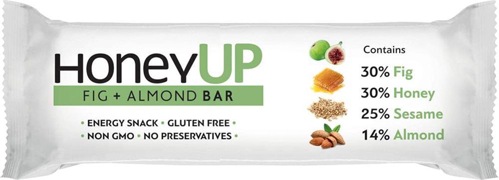 SALE  Melissokomiki Dodecanesse HoneyUp FIG And Almond bar 40 g