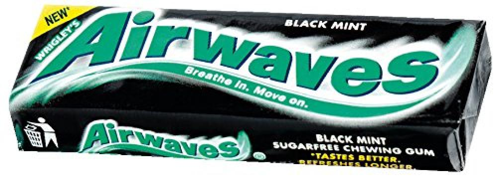 Wrigleys Airwaves Black Mint Menthol Sugarfree Chewing Gum 14g