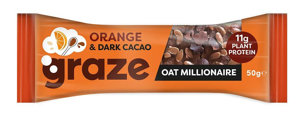Graze Orange and Dark Cacao Oat Millionaire 50g