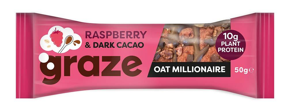 Graze Raspberry and Dark Cacao Oat Millionaire 50 g