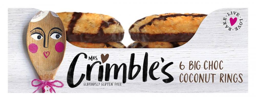 Mrs Crimbles 6 Big Choc Coconut Rings 200g