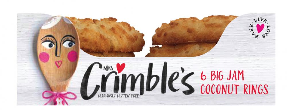 Mrs Crimbles 6 Big Jam Coconut Rings 240g