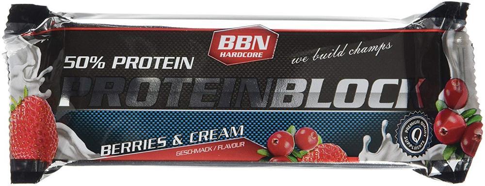 BBN Hardcore Berries and Cream Protein Block 90g