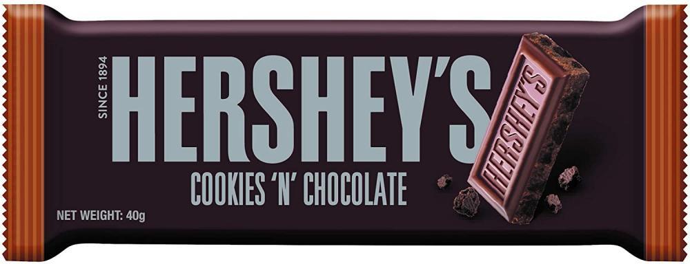 Hersheys Cookies N Chocolate Bar 40g