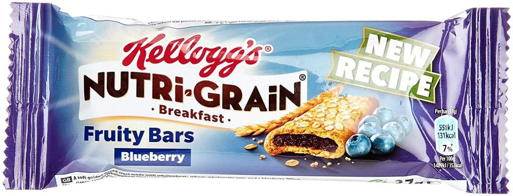 Kelloggs Nutri Grain Breakfast Fruity Bars Blueberry 37g