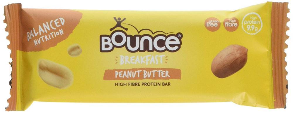 Bounce Breakfast Peanut Butter High Fibre Protein Bar 45g