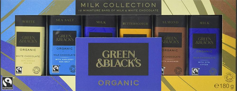 Green and Blacks Organic Milk Miniature Chocolate Bar Collection 180g