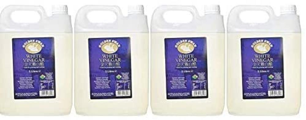 Golden Swan White Vinegar for Cleaning Pickling Marinating And Cooking 5 Litres