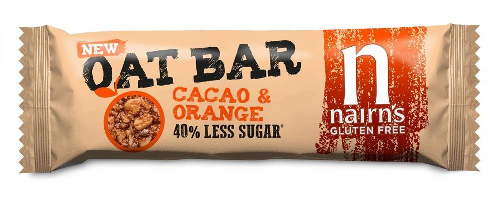 Nairns Cacao And Orange Oat Bar 40g
