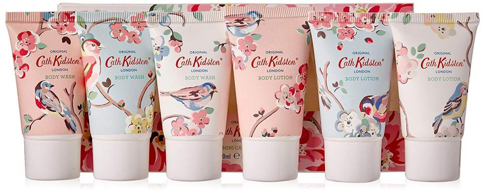 WEEKLY DEAL  Cath Kidston Assorted Blossom Birds Mini Skin Care Set 6x30ml