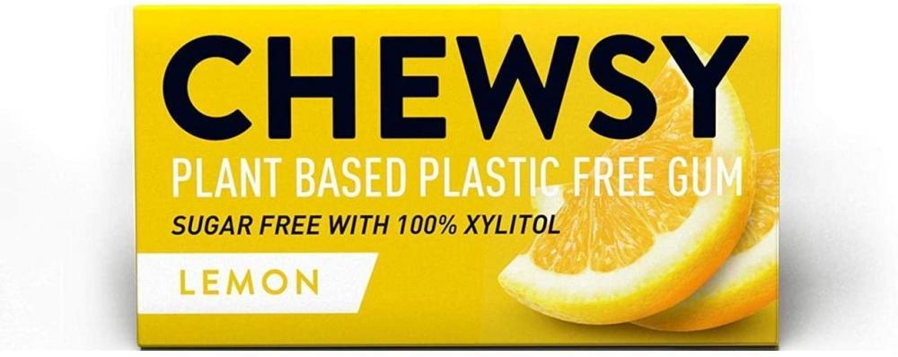 Chewsy All Natural Sugar Free Lemon Chewing Gum 15g