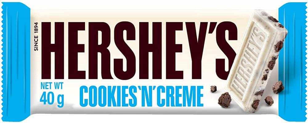 Hersheys Cookies n Creme White Chocolate Flavour with Cookie 40g