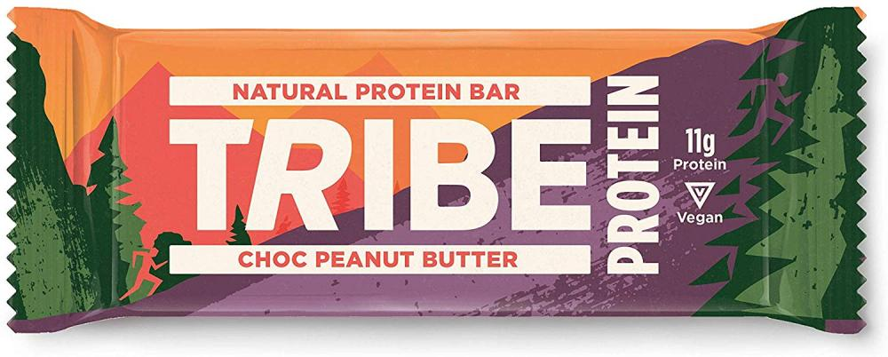 Tribe Nutrition Natural Vegan Protein Bar Choc Peanut Butter Flavour 50 g