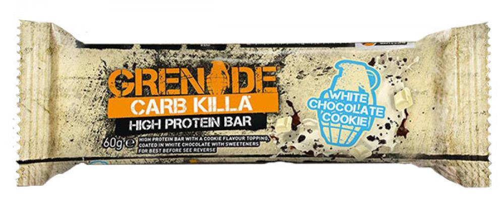 Grenade Carb Killa High Protein and Low Carb Bar White Chocolate Cookie 60g