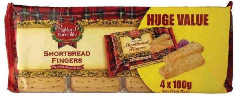 Highland Speciality Shortbread Fingers 4 x 100g