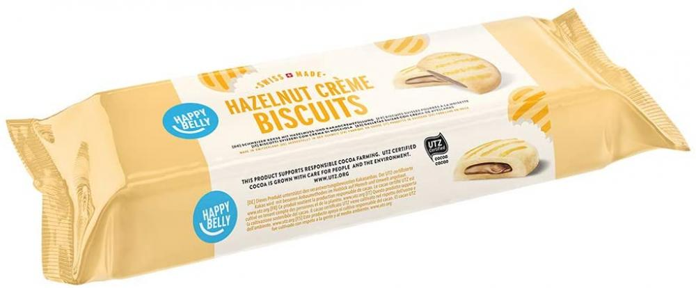 Happy Belly Biscuits with Hazelnuts and Chocolate Creme Filling 175g
