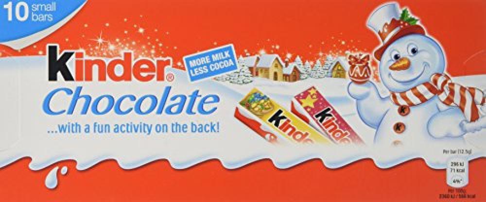 Kinder Chocolate Bar Christmas Edition 10x12.5g