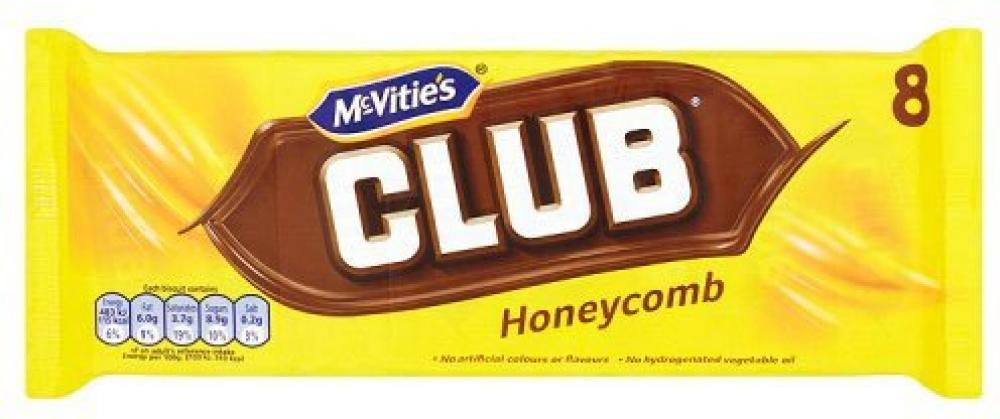 McVities Club Honeycomb 8 bars