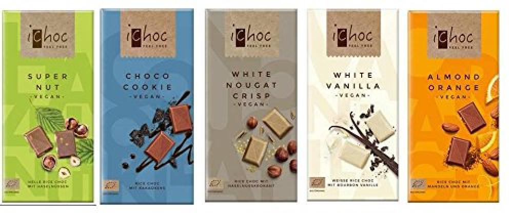 Ichoc Organic German Chocolate Bars LUCKY DIP 80 g