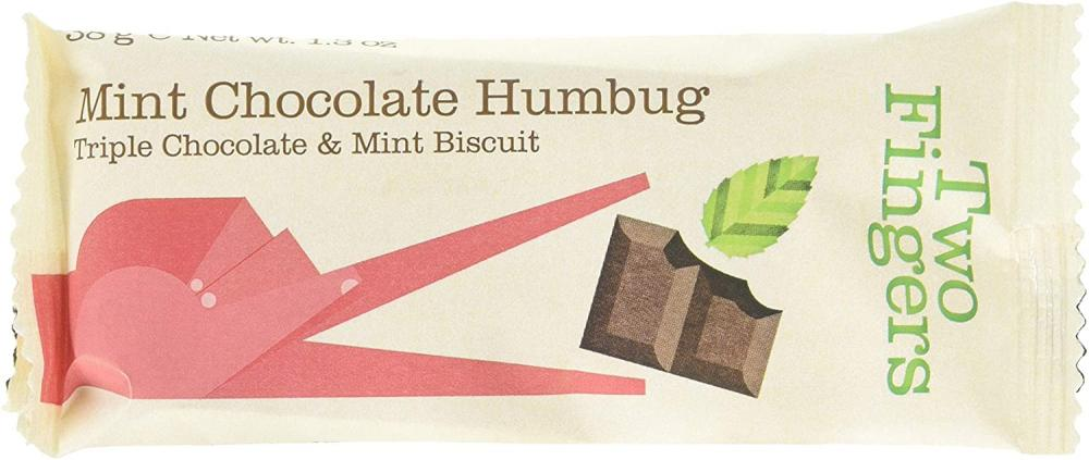 Artisan Biscuits Two Fingers Mint Chocolate Humbug Biscuits 38g