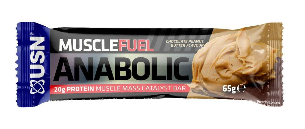 USN Muscle Fuel Anabolic Protein Bar Chocolate Peanut Butter 65g