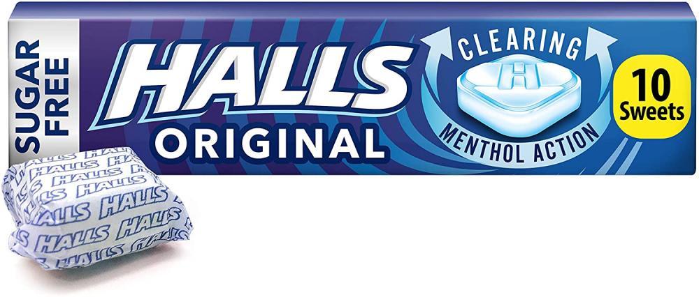 WEEKLY DEAL  Halls Sugar Free Menthol Action Original 32g