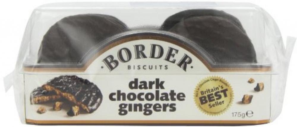 Border Biscuits Dark Chocolate Ginger 175 G