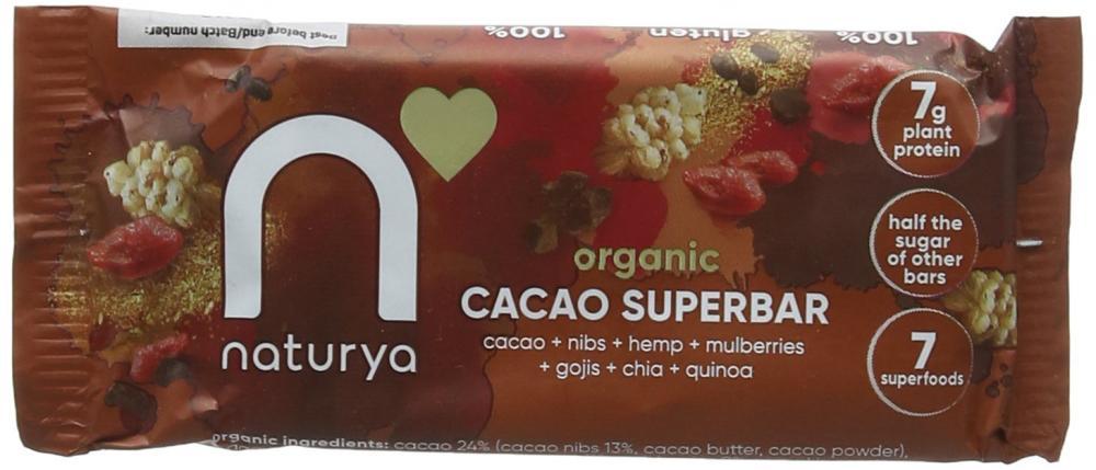 Naturya Organic Cacao Superbar 40g